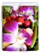 Edible Flowers Duvet Cover
