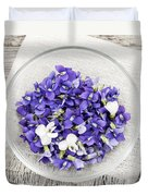 Edible Violets  Duvet Cover