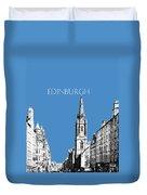 Edinburgh Skyline The Royal Mile - Slate Duvet Cover