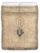 Edison Electric Lamp Patent Marble Duvet Cover