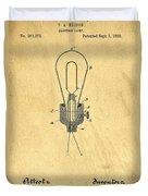 Edison Light Bulb Patent Art Duvet Cover