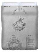 Edison's Electric Generator Patent Drawing Duvet Cover