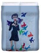 Edith Piaf  The Little Sparrow Duvet Cover