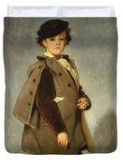 Edmond Dehodencq Wearing An Inverness Cape Duvet Cover