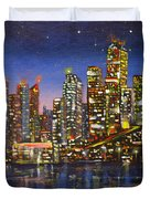 Edmonton Night Lights Duvet Cover