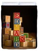 Edward - Alphabet Blocks Duvet Cover