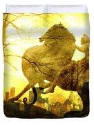 Eerie Horseman Duvet Cover