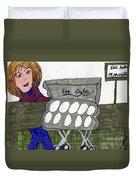 Egg Crate Duvet Cover