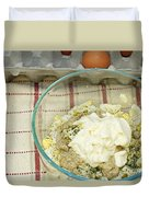 Egg Salad Ingredients Duvet Cover