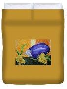 Eggplant And Alstroemeria Duvet Cover