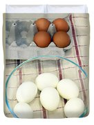 Eggs Boiled And Raw Duvet Cover