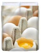Eggs In Box Duvet Cover by Elena Elisseeva