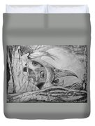 Ego-bird-fish Nesting Ground Duvet Cover by Otto Rapp