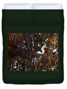 Egret In Hiding Duvet Cover