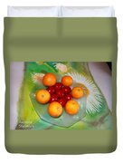 Egss Fruits And Flowers Duvet Cover