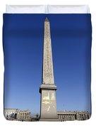 Egyptian Obelisk At The Place De La Concorde In Paris France Duvet Cover