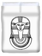 Egyptian Symbol Hathor Duvet Cover