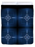 Eiffel Art 36a Duvet Cover