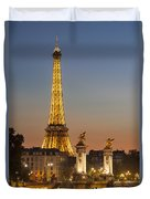 Eiffel At Twilight Duvet Cover