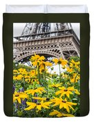 Eiffel Flower Duvet Cover