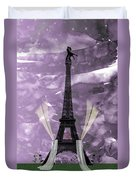 Eiffel Tower - Paris - Love Duvet Cover