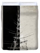 Eiffel Tower Abstract Bw Duvet Cover