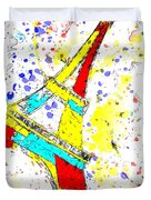 Eiffel Tower Abstract - Paris France Duvet Cover