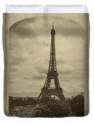 Eiffel Tower Duvet Cover by Debra and Dave Vanderlaan