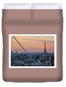 Eiffel Tower From Above Duvet Cover