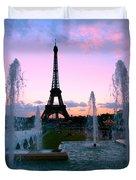 Eiffel Tower In Evening Light Duvet Cover