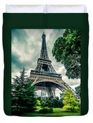 Eiffel Tower In Hdr Duvet Cover