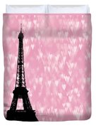 Eiffel Tower - Love In Paris Duvet Cover