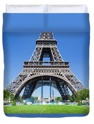 Eiffel Tower Lower Part Paris Duvet Cover