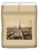 Eiffel Tower, Paris, 1900 Duvet Cover