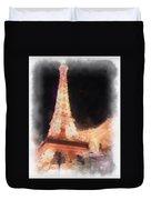 Eiffel Tower Paris Las Vegas Photo Art Duvet Cover