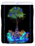 Eiffel Tower Topiary Duvet Cover