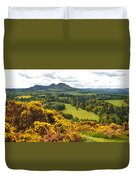 Eildon Hill - Three Peaks And A Valley Duvet Cover