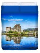 Eilean Donan Castle Reflections 2 Duvet Cover