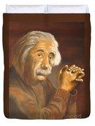 Einstein - Original  Oil Painting Duvet Cover