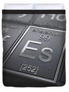 Einsteinium Chemical Element Duvet Cover