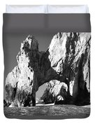 El Arco In Black And White Duvet Cover