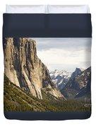 El Capitan And Half Dome Duvet Cover