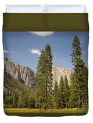 El Capitan And Yosemite Valley Duvet Cover