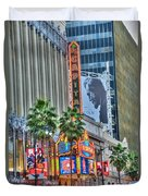 El Capitan Marquee Neon Lights Lincoln Billboard Hollywood Ca Duvet Cover