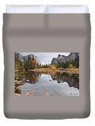 El Capitan Reflected In The Merced River Duvet Cover