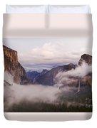 El Capitan Rises Over The Clouds Duvet Cover