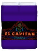 El Capitan Theatre Sign In Hollywood Duvet Cover
