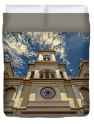 Lady Of Rosary Duvet Cover