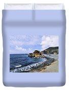 El Golfo Beach On Lanzarote Duvet Cover