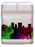 El Paseo City Skyline Duvet Cover